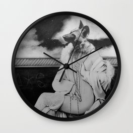 she lit the room Wall Clock