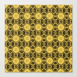 Primrose Yellow Floral Abstract Canvas Print