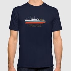 Captain Jacques' Boat MEDIUM Navy Mens Fitted Tee