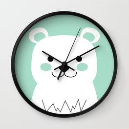 Mint Bear Wall Clock