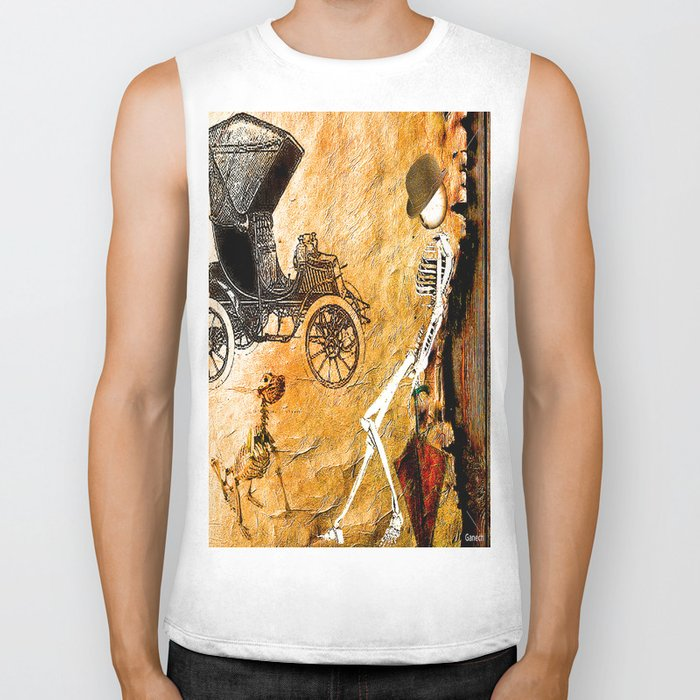 Monsieur Bone take a break  Biker Tank