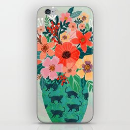 Jar with flowers, cute floral bouquet iPhone Skin