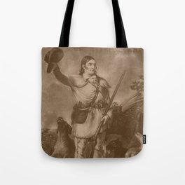 Colonel Davy Crockett Tote Bag