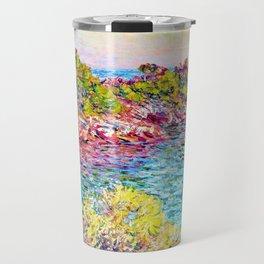 Landscape near Montecarlo - Claude Monet Travel Mug