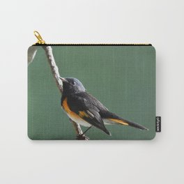 A Male American Redstart Carry-All Pouch