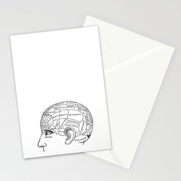 Brain Areas Stationery Cards