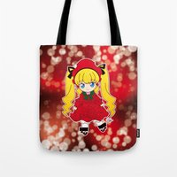 chibi Tote Bags featuring Chibi Shinku by Yue Graphic Design