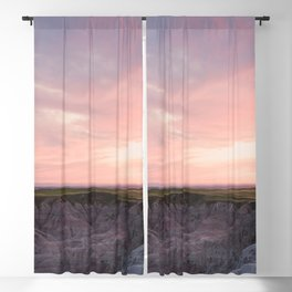 Sunset over the Badlands - Nature Photography Blackout Curtain