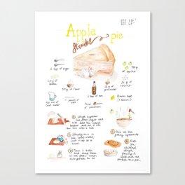 Apple strudel pie Canvas Print