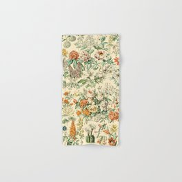 Wildflowers and Roses // Fleurs III by Adolphe Millot 19th Century Science Textbook Artwork Hand & Bath Towel