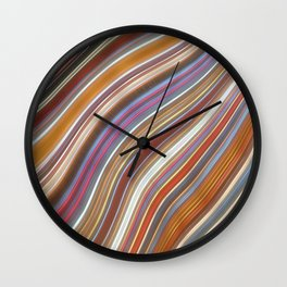 Wild Wavy Lines 02 Wall Clock