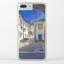 Digital treatment of the arco da vila, Faro, the Algarve, Portugal Clear iPhone Case