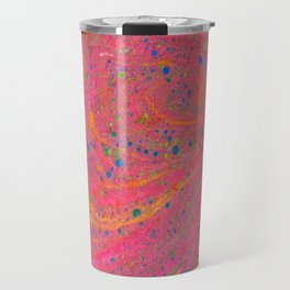 Marbling 3, Tie Dye Effect Abstract Pattern Travel Mug