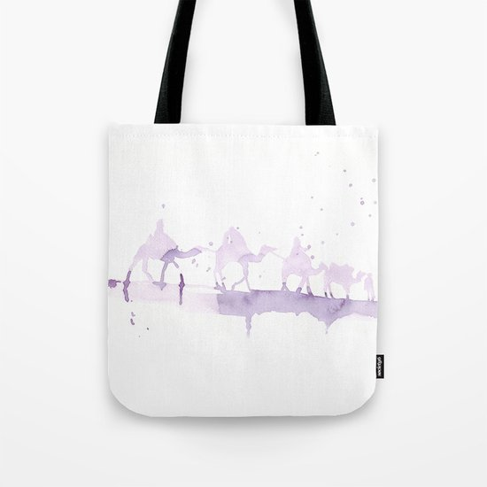 Watercolor landscape illustration_Sahara Tote Bag