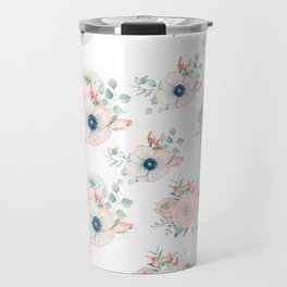 Dog Rose Pattern 2 Travel Mug