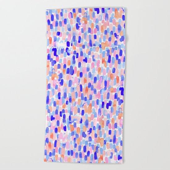 Delight Blue Orange Beach Towel