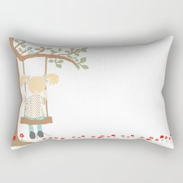 On the Swing, In the Tree Rectangular Pillow