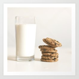 milk and cookies Art Print