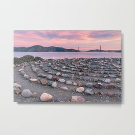 Lands End Labyrinth Metal Print
