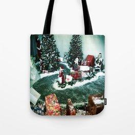 Santas Helpers In The Christmas Display Tote Bag