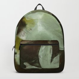 White Daffodils Impressionist Painting Backpack