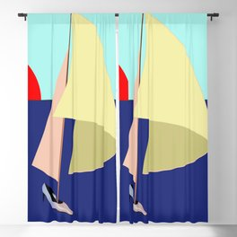 Sailing in May with May - shoes stories Blackout Curtain