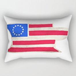 Betsy Ross Anvil Flag- Iron Ram Forge Rectangular Pillow