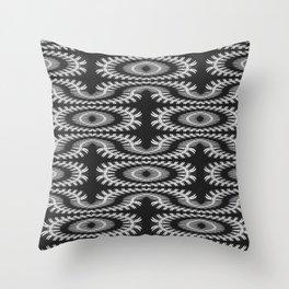 Monochrome centipede arabesque Throw Pillow