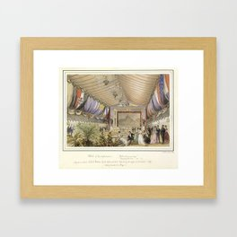 Sketch of the performance played on board HMS Galatea  (looking towards the stage)., 1869, by Nichol Framed Art Print