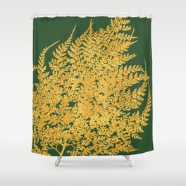 Burnt orange golden fern Shower Curtain