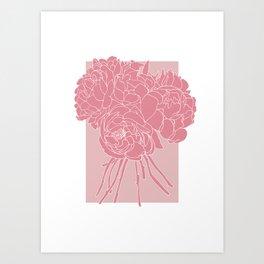 Floral Pinks Art Print