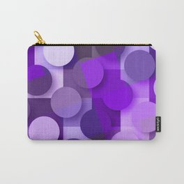 squares & dots violet Carry-All Pouch