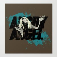 orphan black Canvas Prints featuring Orphan Black - Angry Angel by Child of the Tardis