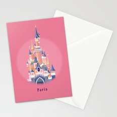 Paris Disneyland Castle Stationery Cards