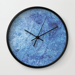 """Lump of a blue moon"" Wall Clock"