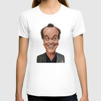 celebrity T-shirts featuring Celebrity Sunday ~ Jack Nicholson by rob art | illustration