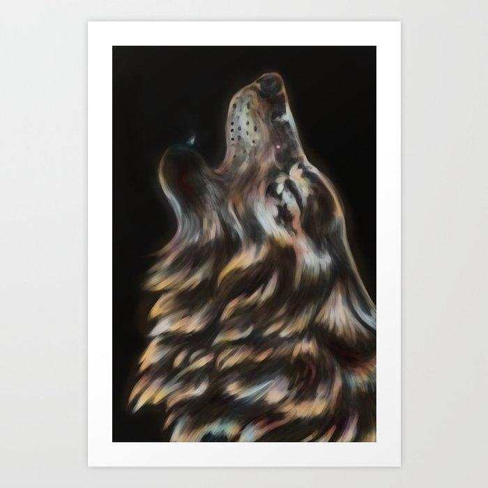 Iridescent Howl Art Print
