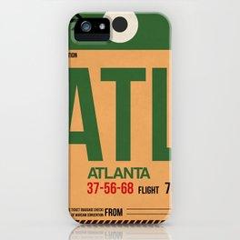 ATL Atlanta Luggage Tag 1 iPhone Case