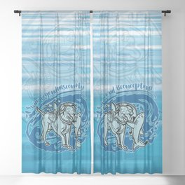 (v2) Swim Beyond Misconceptions Sheer Curtain