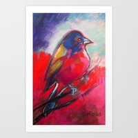 Fat Bird in Town Art Print
