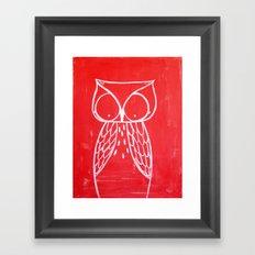 No. 008 - Modern Kids and Nursery Art - The Owl Framed Art Print
