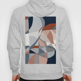 Navy and Rust (XIV) Abstract Hoody