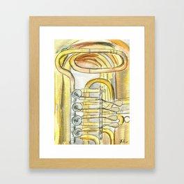 Tuba Tubs Framed Art Print