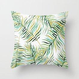 Banana Leaves Throw Pillow