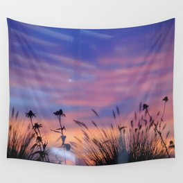 LOOK OUTSIDE - Flowers & Sunset #1 #art #society6 Wall Tapestry