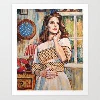 lana del rey Art Prints featuring Lana Rey by Iván Gabela