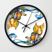 bow Wall Clocks featuring bow by noCek
