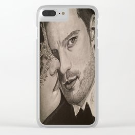 """""""No more secrets"""" FiftyShades Darker Clear iPhone Case"""