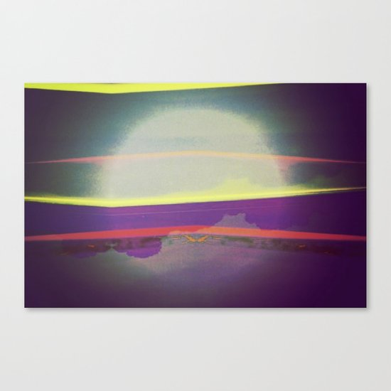 Signs in the Sky Collection - Falling Moon Canvas Print