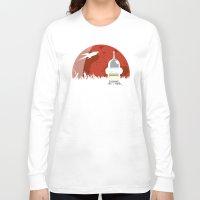 drunk Long Sleeve T-shirts featuring Drunk Robot by Moysche Designs